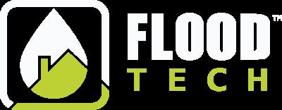 Flood Tech - Logo - White and lemon green